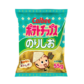 Calbee Potato Crisps - Seaweed 20x55g bag