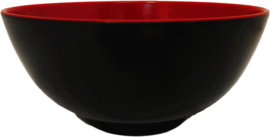 Bowl 17*17*8,2cm red/black