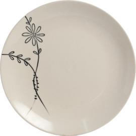 Sakura Fleur Noir plat Ø17,5 cm