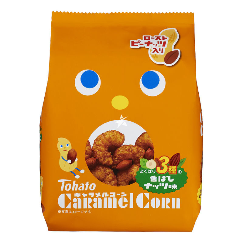 Caramel Corn 3 kind of Nuts Tohato