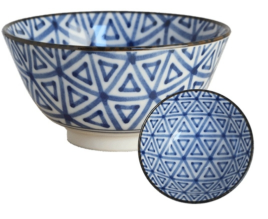 Old Nippon Blue Pattern Triangle 13x6,8cm