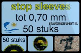 Nylon stop sleeves 0.70 mm (50 pack)