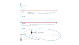 Platvis onderlijn | Dwarrel+Afhouder
