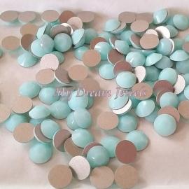 Swarovski 2028 platte steen Mint Alabaster 7,1mm
