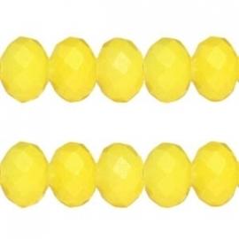 Facet Kraal Vintage Geel 8x6mm