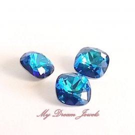 Swarovski 4470 Square Crystal Bermuda Blue 12x12mm