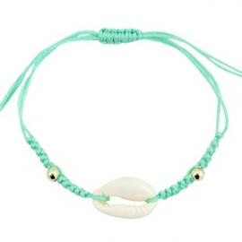 Armband met schelp Turquoise Groen