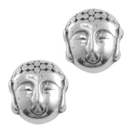 DQ Kraal Buddha Antiek Zilverkleurig