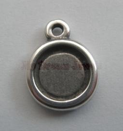 DQ Hanger Antiek Zilverkleurig voor Cabochon 11,5 mm