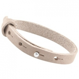 LC Armband Enkel Nubuck Leer 10mm Soft Satin Brown