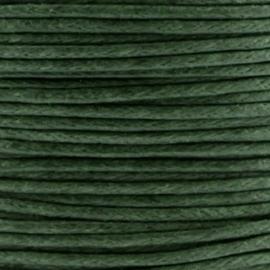 Waxkoord 1mm Donker Olijf Groen prijs per meter