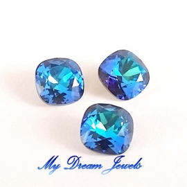 Swarovski 4470 Square Crystal Bermuda Blue 10x10mm