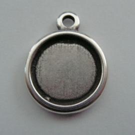 DQ Hanger Antiek Zilver voor Cabochon 16,4mm