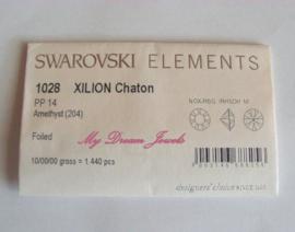 swarovski 1028 Amethyst 2,0mm Volle verpakking