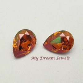Swarovski 4320 Druppel Crystal Copper 14x10mm