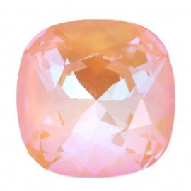 Swarovski 4470 Square Crystal Peach Delite 10x10mm