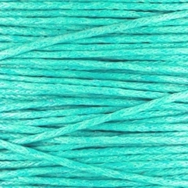 Waxkoord 1mm Turquoise prijs per meter