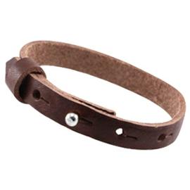 LC Leren Armband 10mm Donker Bruin