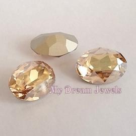 Swarovski 4120 Ovaal Crystal Golden Shadow 18x13mm