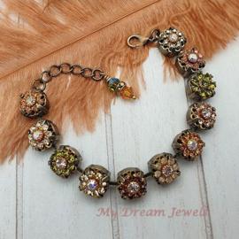 Armband Autumn Dreams met Vintage Swarovski Flower