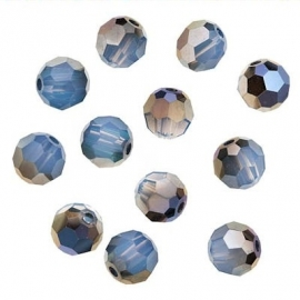 Swarovski 5000 White Opal Sky Blue 4mm