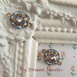 Vintage Swarovski Tussenzetsel Light Sapphire/Crystal