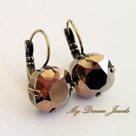 Swarovski Oorbellen Square Brown Delight