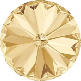 Swarovski 1122 Rivoli Crystal Golden Shadow 12mm