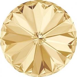 Swarovski 1122 Rivoli Crystal Golden Shadow 10mm
