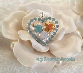 Swarovski Hanger Hart Opal Shine