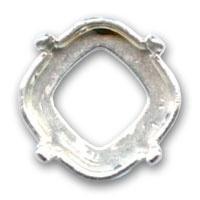 DQ Rijgkastje  Zilverkleurig voor Swarovski 4470 voor 12mm