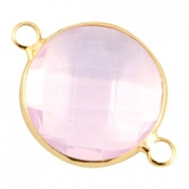 Crystal glas tussenstuk rond Light Rose