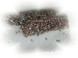Swarovski 2028 platte steen Light Rose AB 2,6mm per 12 stuks