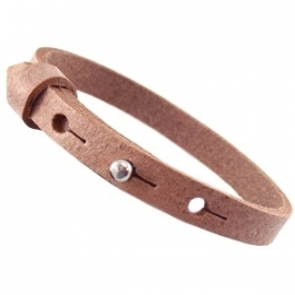 Cuoio Armband Leer Small Light Cognac Brown