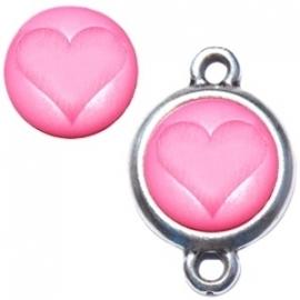 Polaris Cabochon Hart Soft Rose Pink 12mm