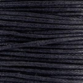 Waxkoord 1mm Zwart prijs per meter