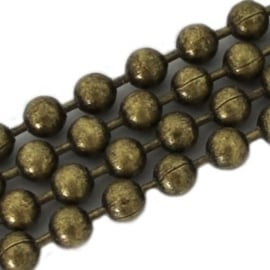 DQ Ball Chain Antiek Bronskleurig 2mm