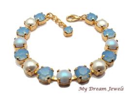 Romantische Armband Swarovski Pearl Blue Opal