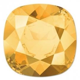Swarovski 4470 Square Crystal Metallic Sunshine 10mm