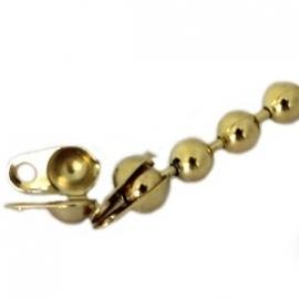 DQ Ball Chain Eindkapje Goudkleurig 3mm