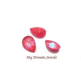 Swarovski 4320 druppel Crystal Lotus Pink Delite 14x10mm