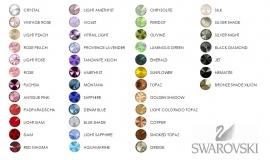 Sterling Silver 925 oorstekers met Swarovski Rivoli in diverse kleuren