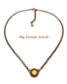 Ketting Square Swarovski Crystal Copper