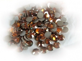 Swarovski 2028 platte steen Crystal Copper 7,1mm