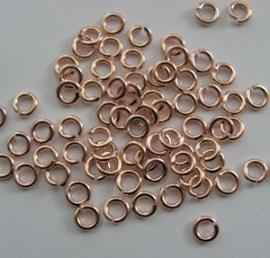 DQ Buigringen Rose Gold 4,5mm per 40 stuks