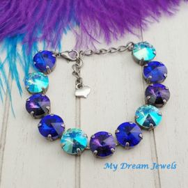 Armband Swarovski Magic Purple Blue Turquoise