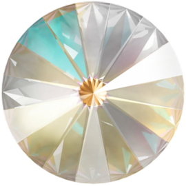 Swarovski 1122 Rivoli Crystal Light Grey Delite 12mm