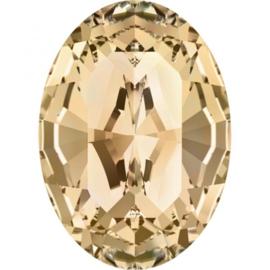 Swarovski 4128 Ovaal Crystal Golden Shadow 14x10mm