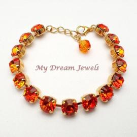 Armband met Swarovski Crystal Fire Opal