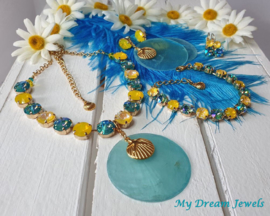 Ketting Swarovski Summer Sunshine Yellow/Turquoise